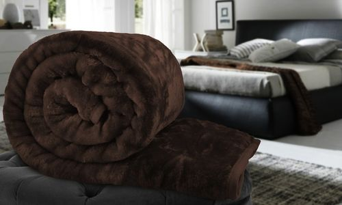 Faux Fur Throw - 200x240CMs - KING