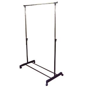 Wheeled Adjustable Clothes Rail/Shoe Rack