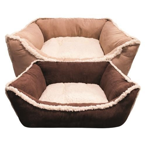 Faux Suede Pet Bed 60cm x 50cm