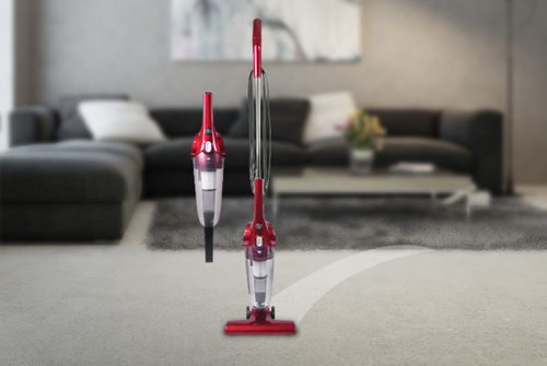 2-in-1 Upright & Handheld Vacuum - Red