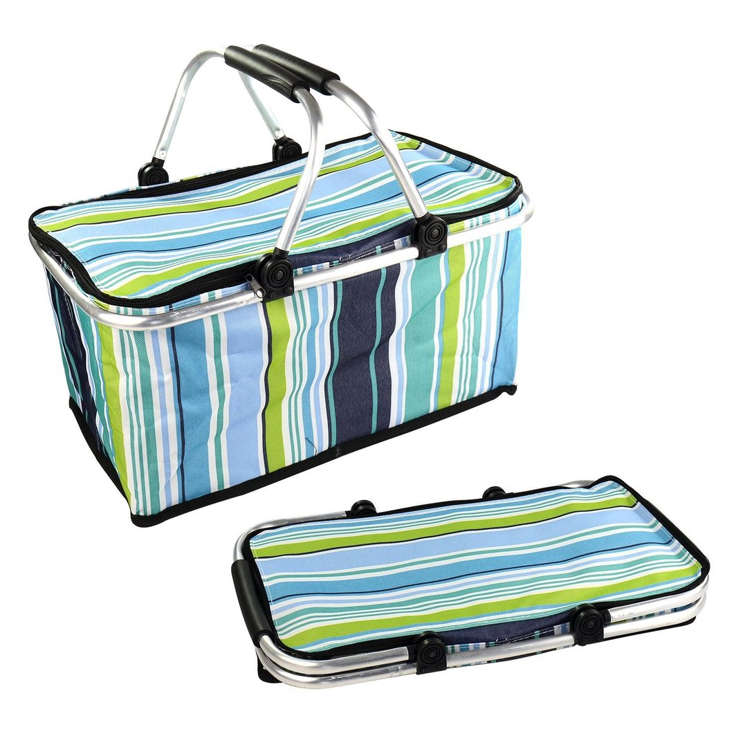 Foldable Picnic Basket Amp Cooler Bag Homevibe