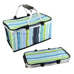 Foldable Picnic Basket & Cooler Bag