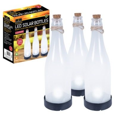 3 Decorative Solar Bottle Lights