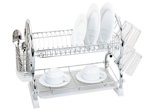 2 Tier Chrome Dish Drainer