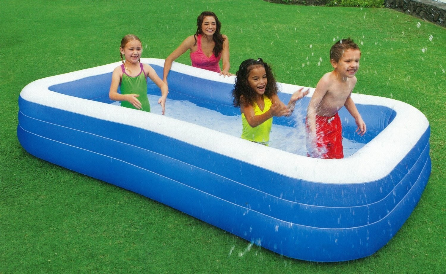 Family size rectangular pool homevibe Toys r us swimming pools above ground