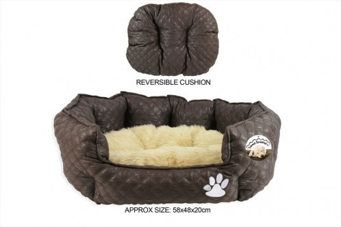 Large Reversible Fleece Pet Bed