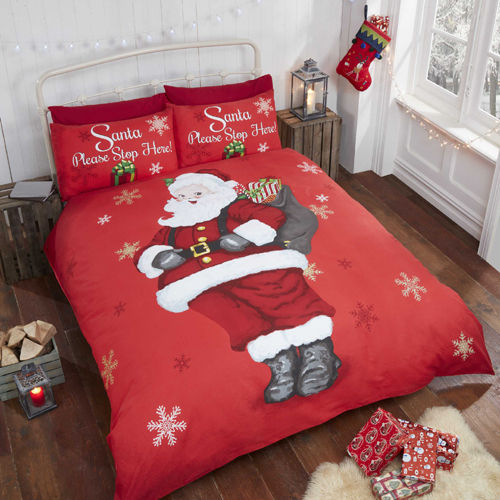 Please Stop Here Christmas Duvet