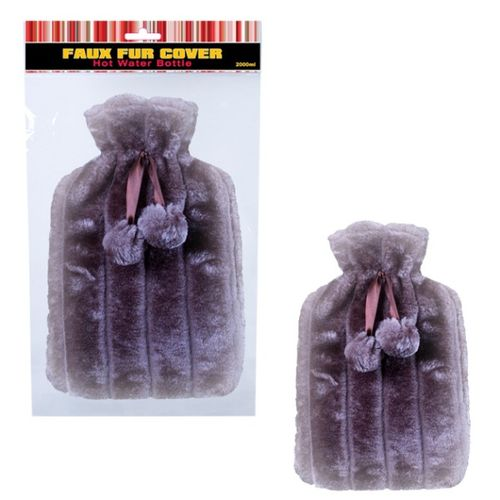 2Ltr Faux Fur Hot Water Bottle