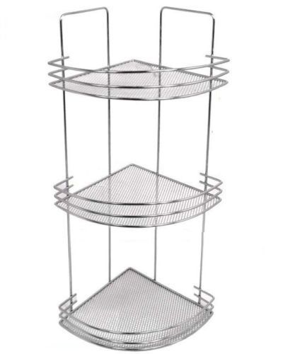 Chrome 3 Tier Corner Bath Shelf