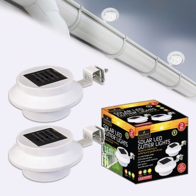 2 OR 4 PACK SOLAR GUTTER LIGHTS