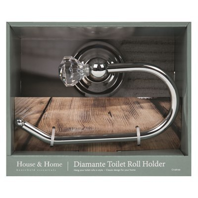 Diamante Toilet Roll Holder
