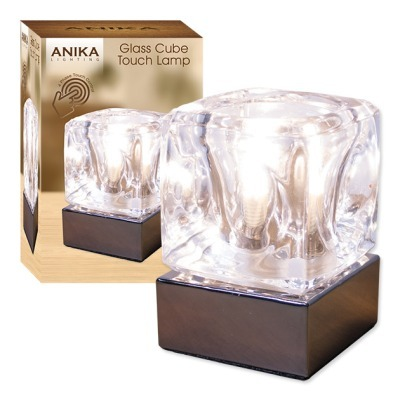 Glass Ice Cube Touch Lamp