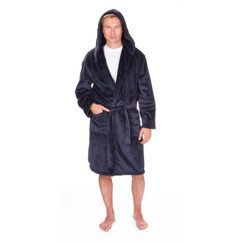 MENS DRESSING GOWN WITH HOOD