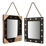 Marquee Rope Mirror W/Timer