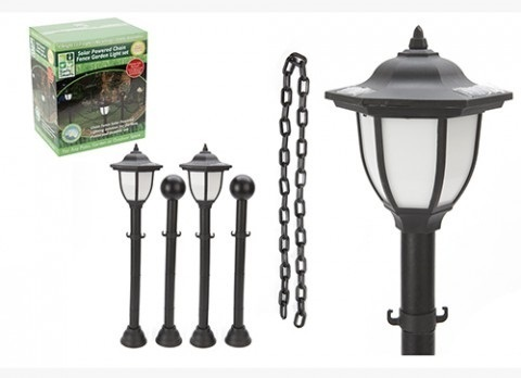GARDEN SOLAR LAMP & CHAIN  FENCE SET