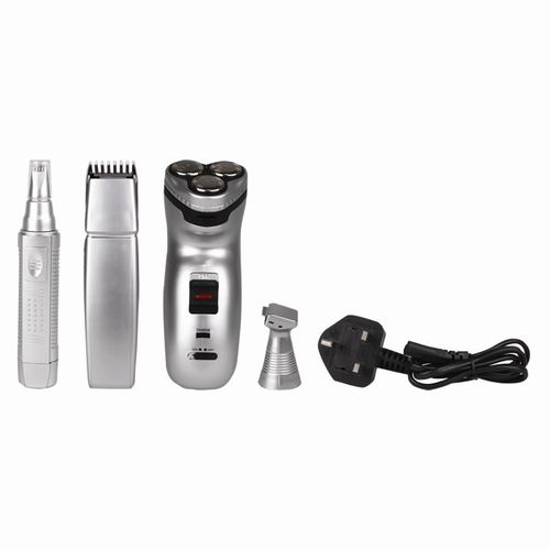 Gents 3 In 1 Grooming Set - 4 Piece
