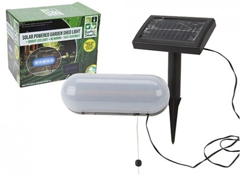 SOLAR POWERED GARDEN SHED LIGHT