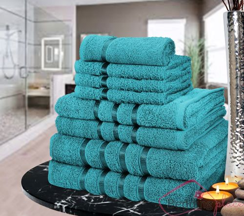 LUXURIOUS EGYPTIAN 8 PIECE TOWEL BALE