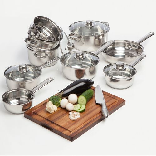 9pc Essential Stainless Steel Cookware Set