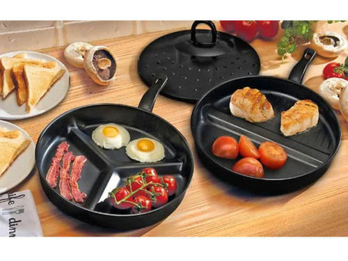 3 in 1 Divider Breakfast Pan Set