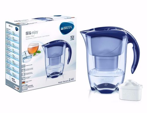 Brita Elemaris Cool 2.4L Fridge Water Filter Jug Blue