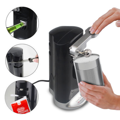 Electric Can Opener Tin Auto Multi Function Magnetic Beer Bottle Knife Sharpener