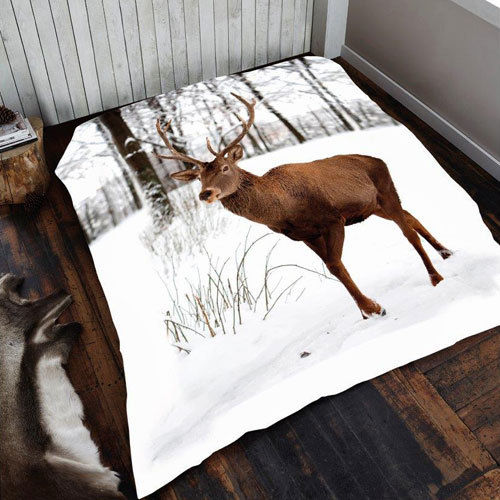 DEER MINK FAUX FUR THROW