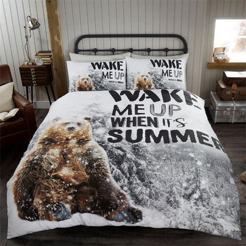 BEAR WAKE ME UP WINTER DUVET SET