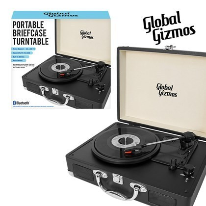 Portable Turntable Suitcase With Bluetooth