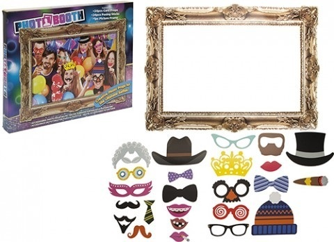 25PC PHOTO BOOTH SELFIE PROPS W/ PICTURE FRAME ADULT PARTY