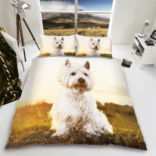 WESTIE DOG REVERSIBLE DUVET SET