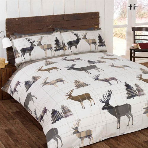 STAG NATURAL BRUSHED COTTON DUVET SET