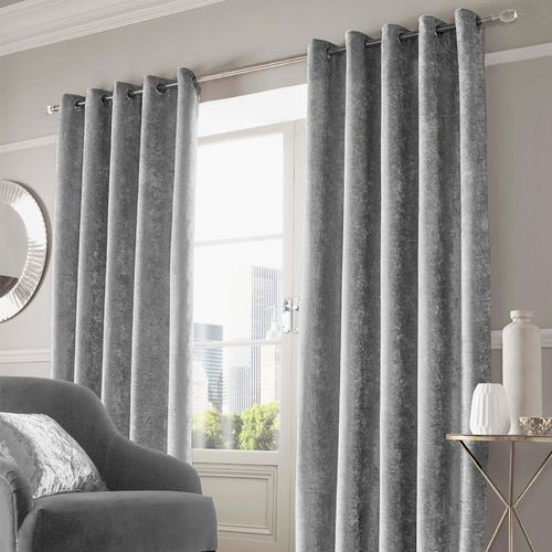 Thermal Velvet Crushed Blackout Eyelet Curtains