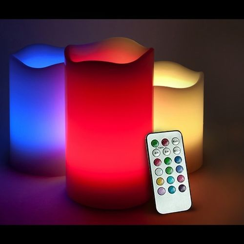3 LED COLOUR-CHANGING CANDLES