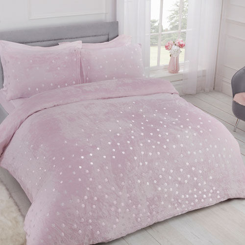 COMFY FLEECE FOIL DOTS DUVET