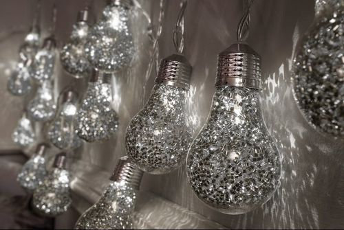 15 LED Glitter Bulb String Lights